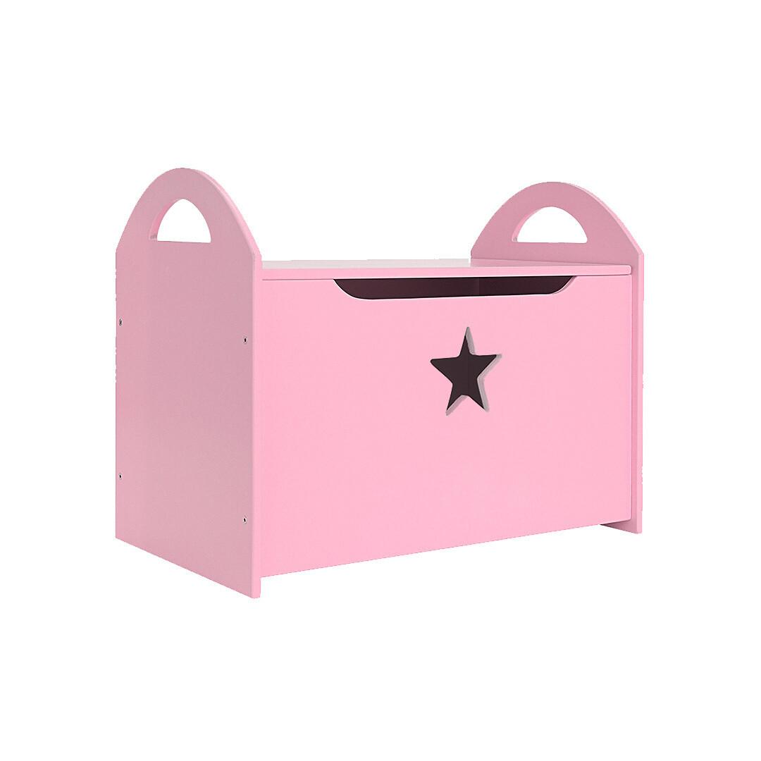 Детский сундук со звездочкой, розовый