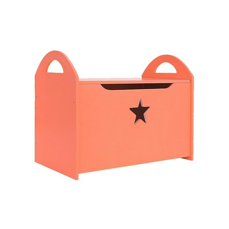 Детский сундук со звездочкой, оранжевый
