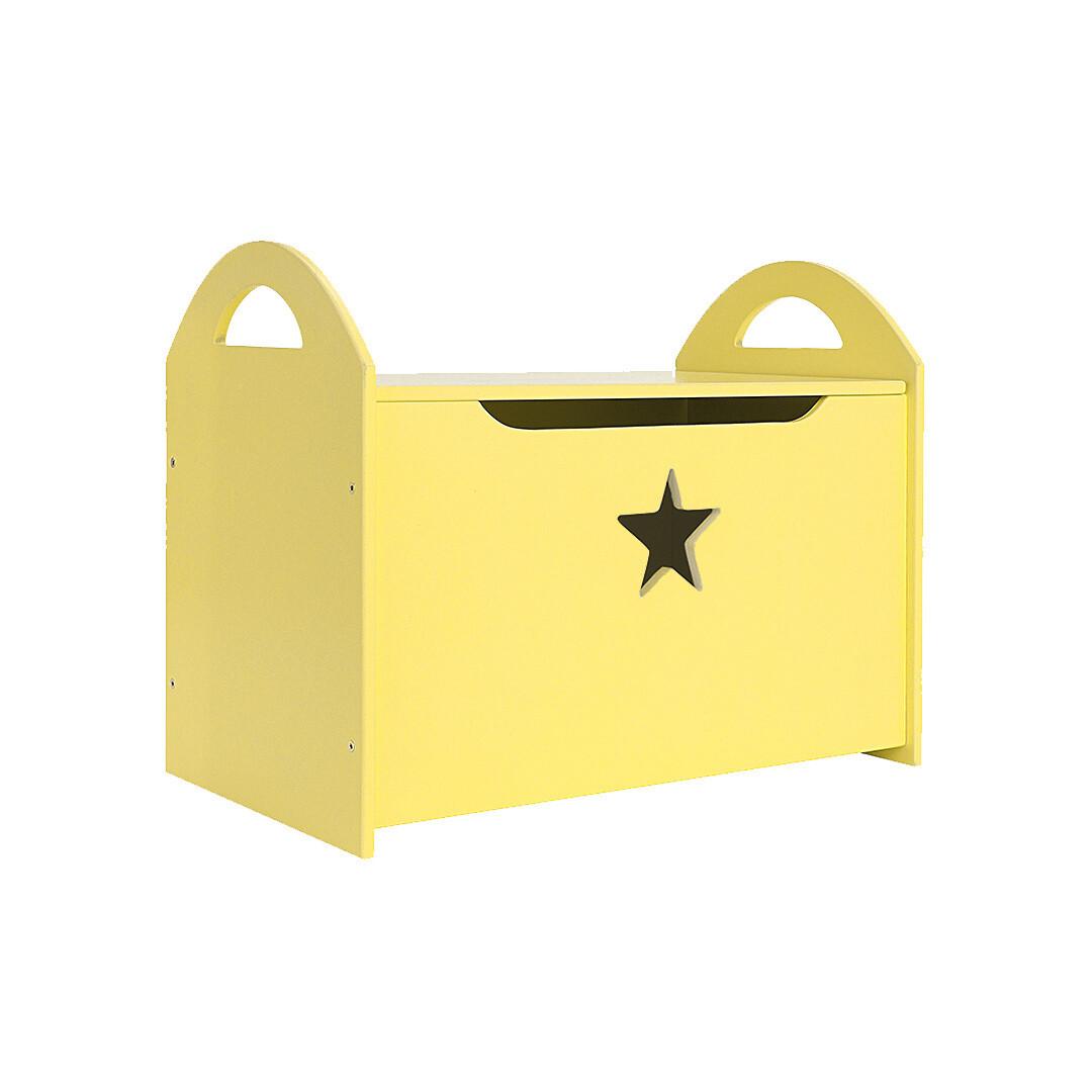 Детский сундук со звездочкой, желтый