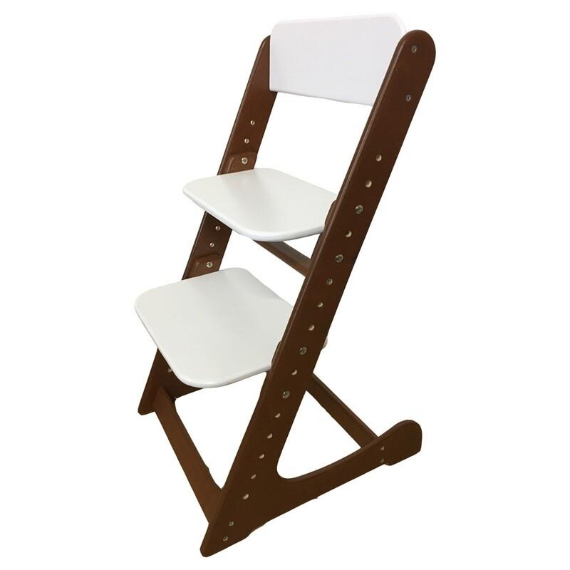 Растущий стул, темно-орехово-белый