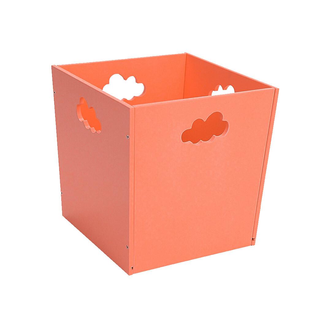 Деревянный ящик для игрушек с облачком, оранжевый