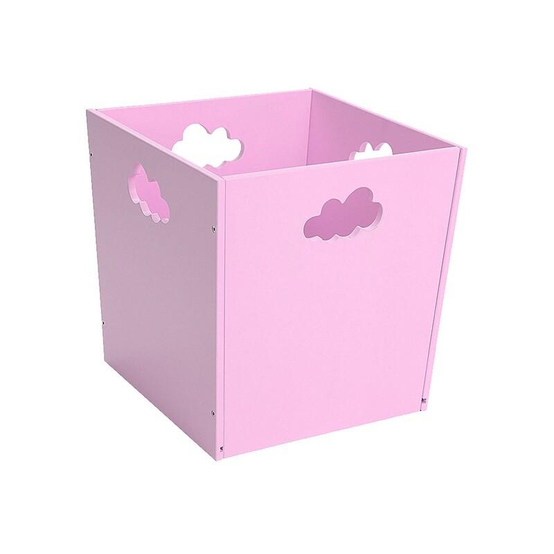 Деревянный ящик для игрушек с облачком, фиолетовый