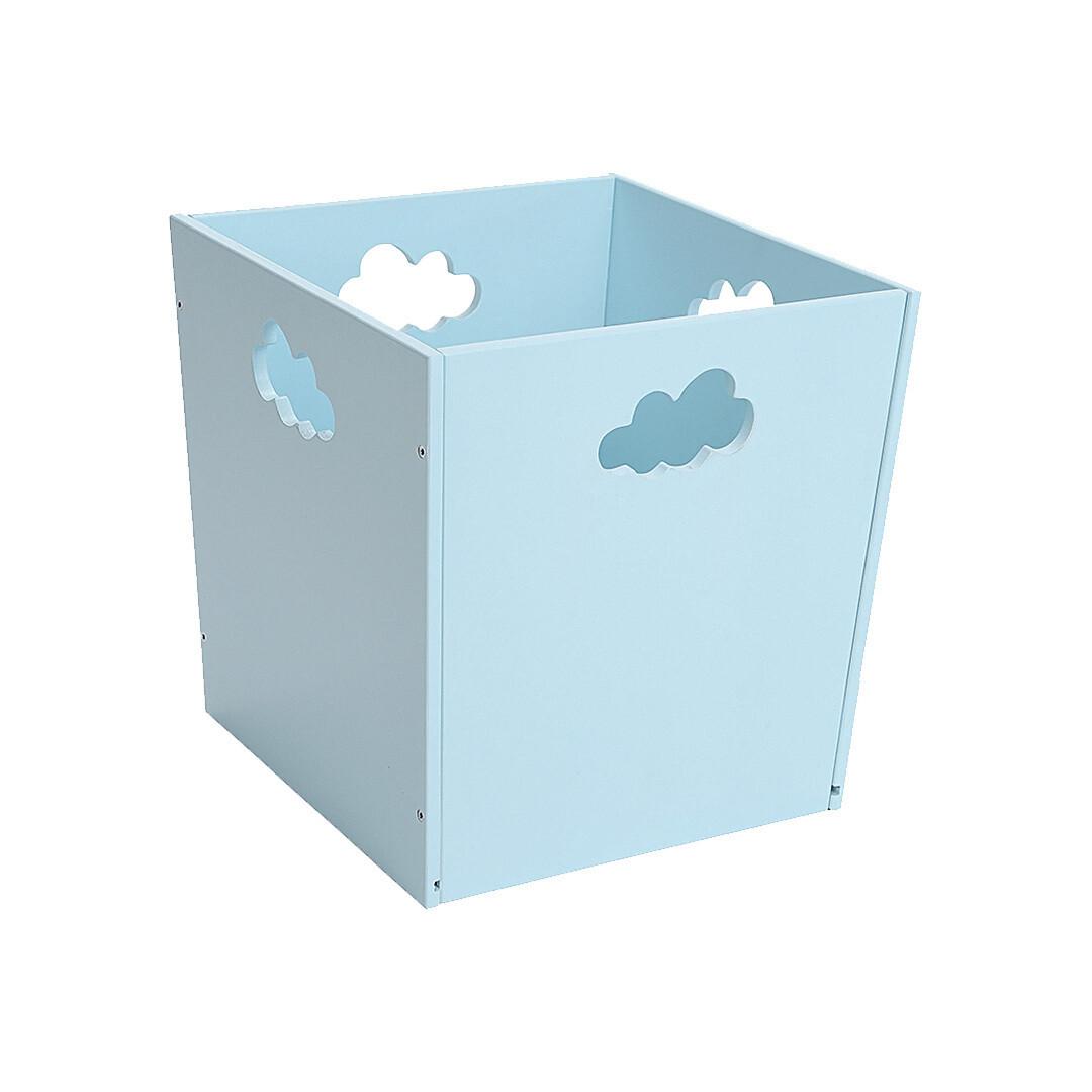 Деревянный ящик для игрушек с облачком, голубой