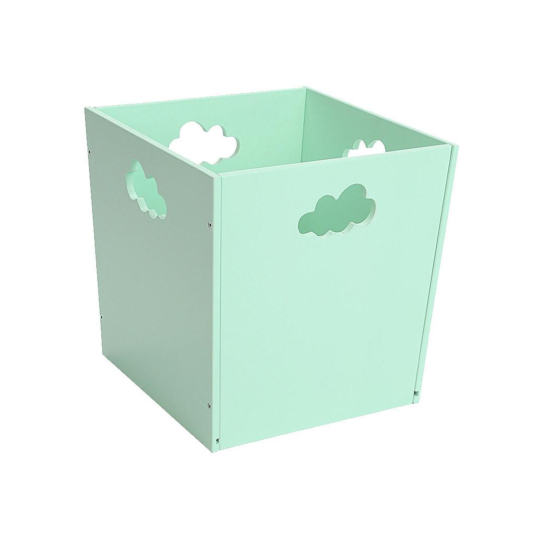 Деревянный ящик для игрушек с облачком, мятный