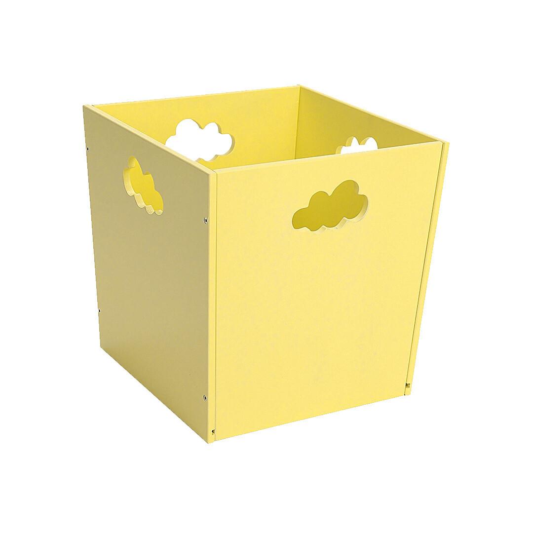 Деревянный ящик для игрушек с облачком, желтый