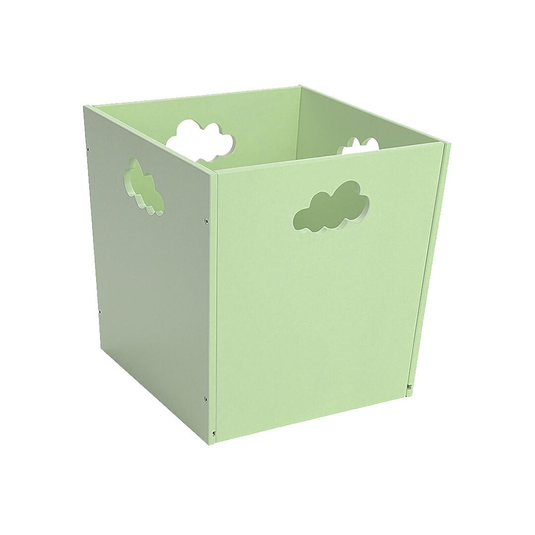 Деревянный ящик для игрушек с облачком, салатовый