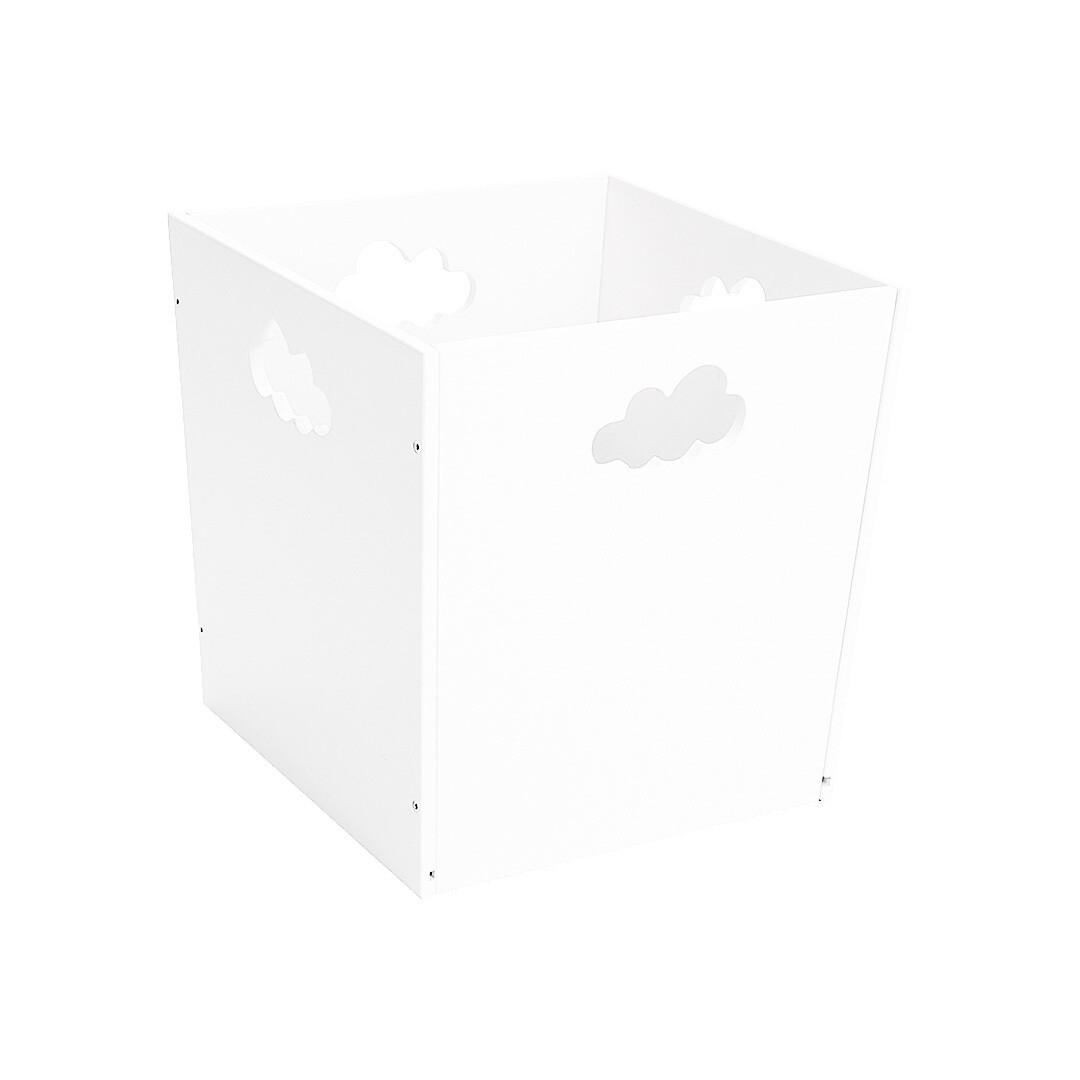 Деревянный ящик для игрушек с облачком, белый