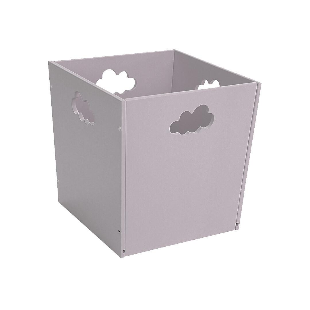 Деревянный ящик для игрушек с облачком, серый