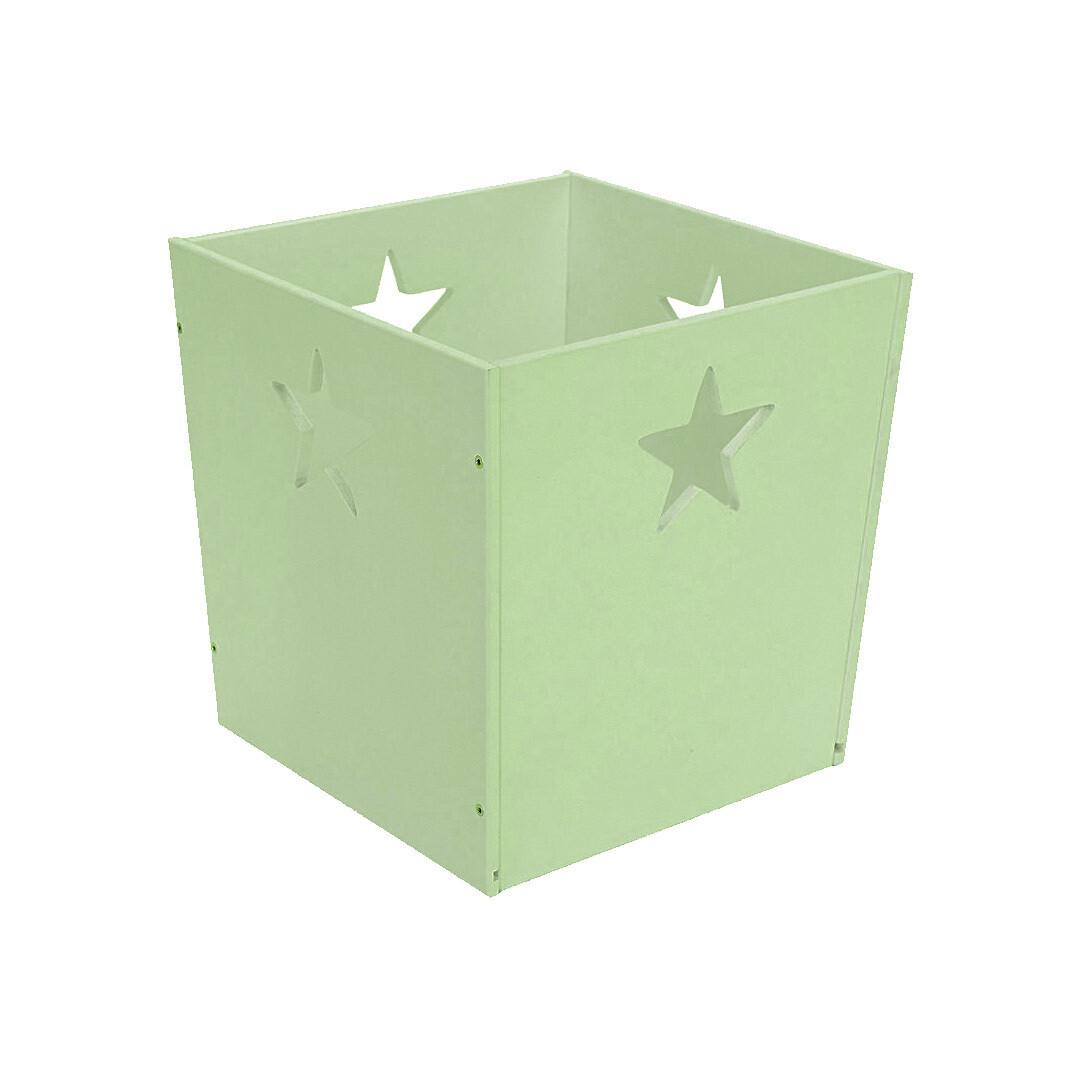 Деревянный ящик для игрушек со звездочкой, салатовый
