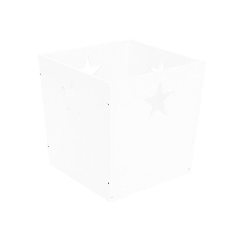 Деревянный ящик для игрушек со звездочкой, белый