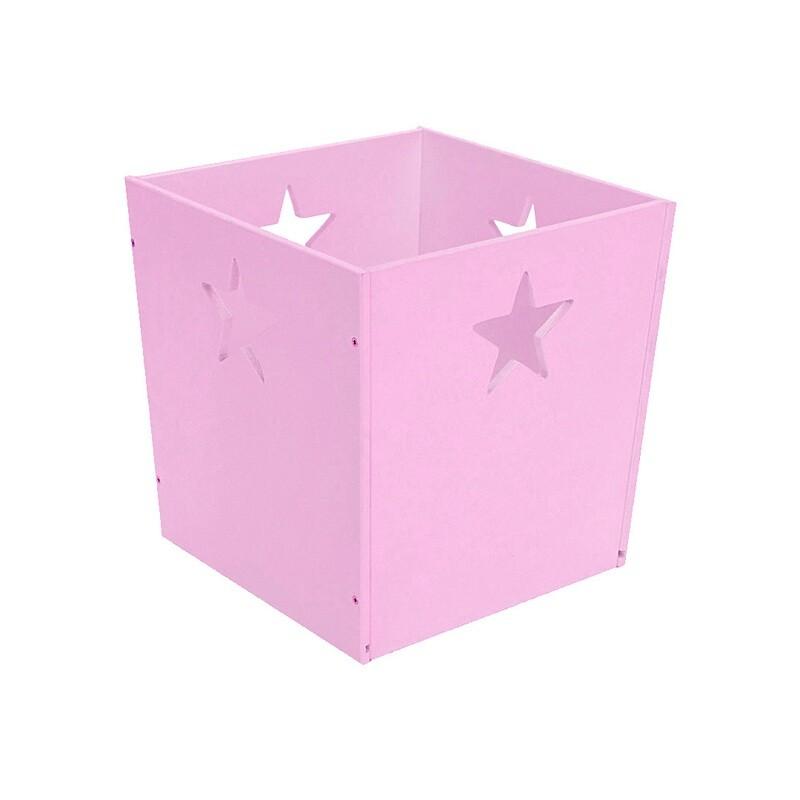 Деревянный ящик для игрушек со звездочкой, фиолетовый