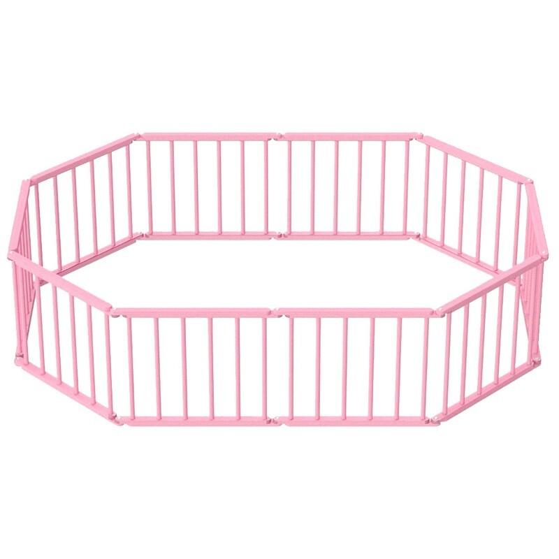 Игровой манеж-трансформер, 10 секций, розовый