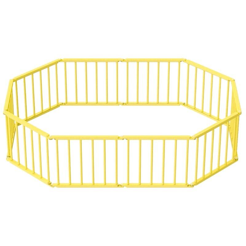 Игровой манеж-трансформер, 10 секций, желтый