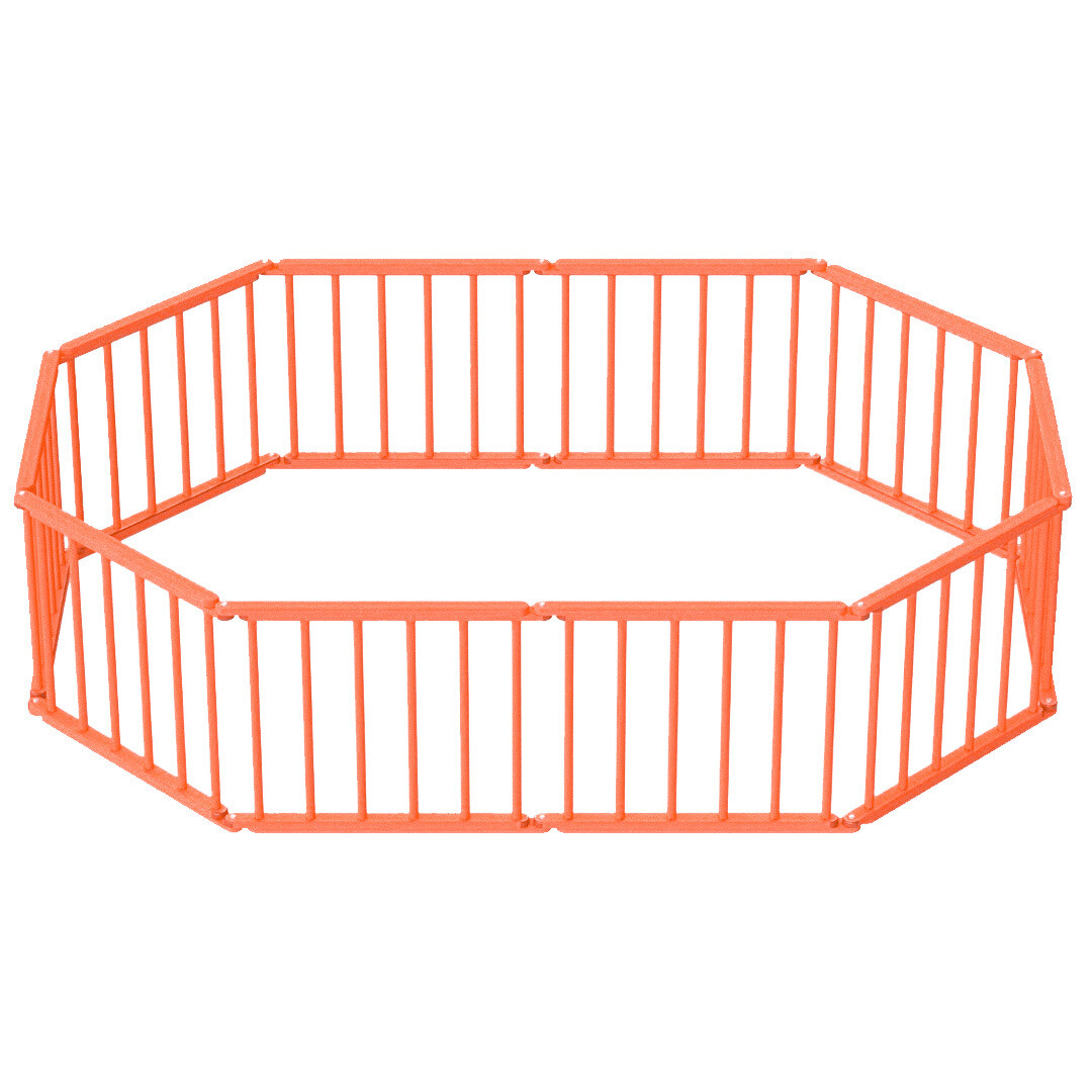 Игровой манеж-трансформер, 10 секций, оранжевый