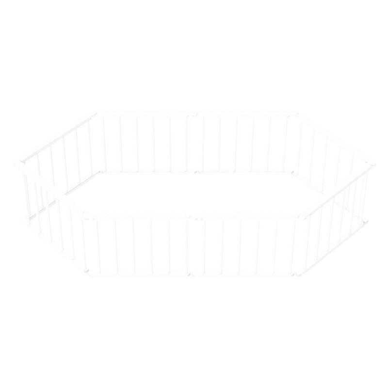 Игровой манеж-трансформер, 8 секций, белый