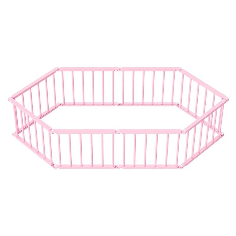 Игровой манеж-трансформер, 8 секций, розовый