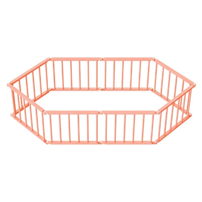 Игровой манеж-трансформер, 8 секций, оранжевый