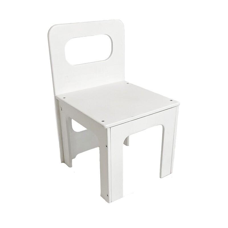 Детский стульчик, белый