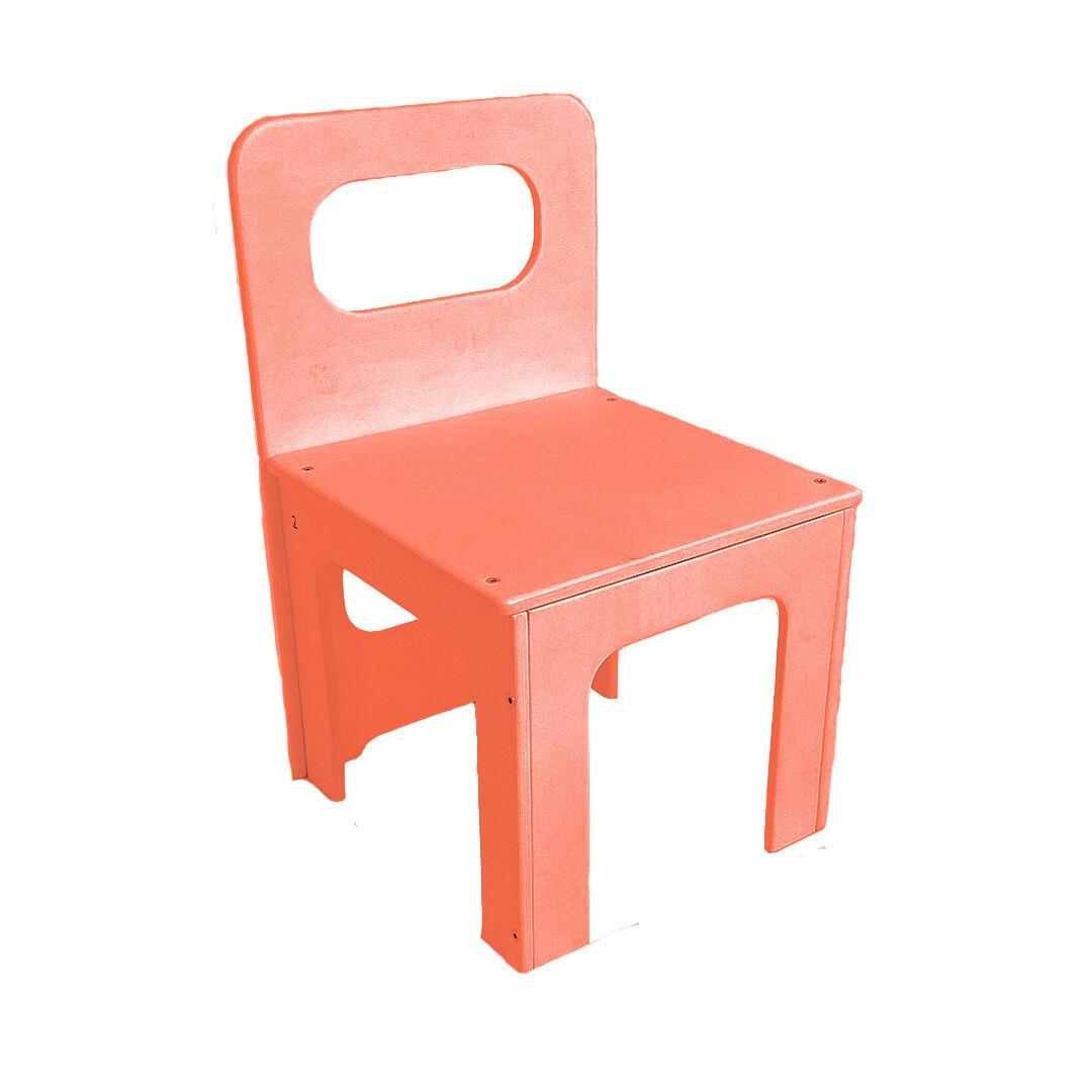 Детский стульчик, оранжевый
