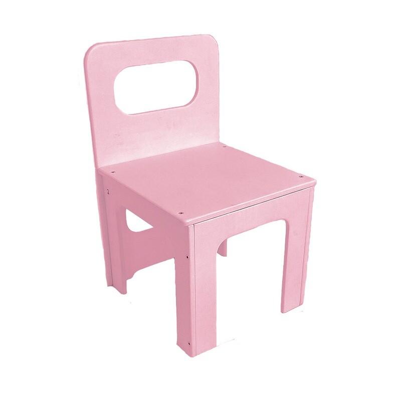 Детский стульчик, розовый