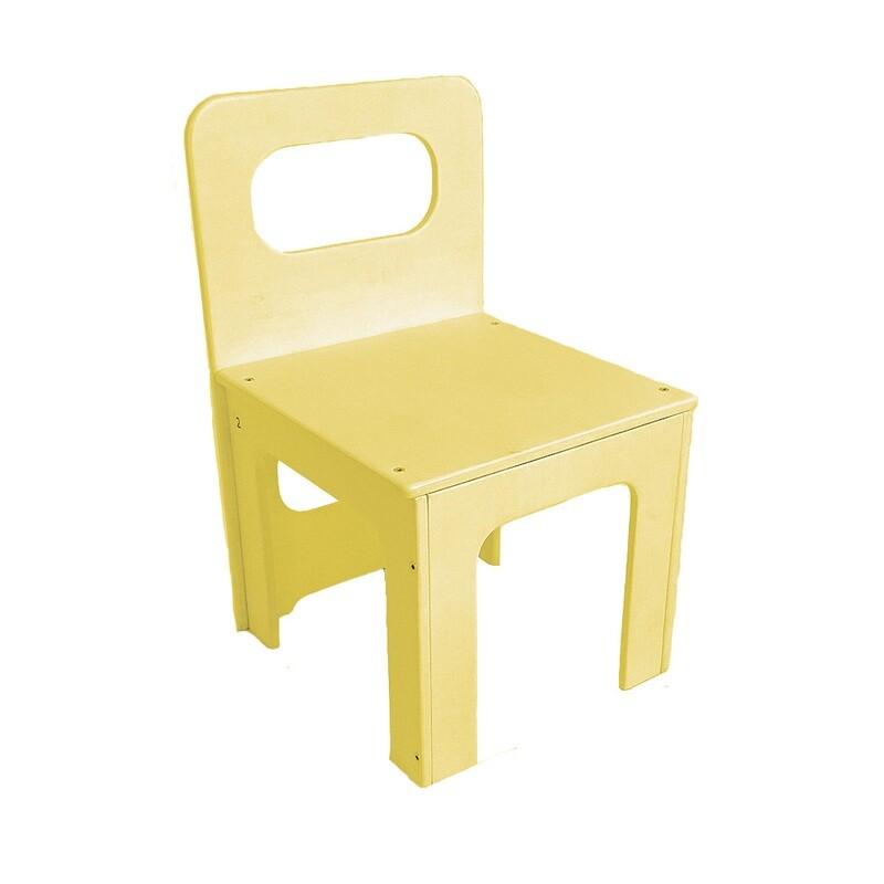 Детский стульчик, желтый