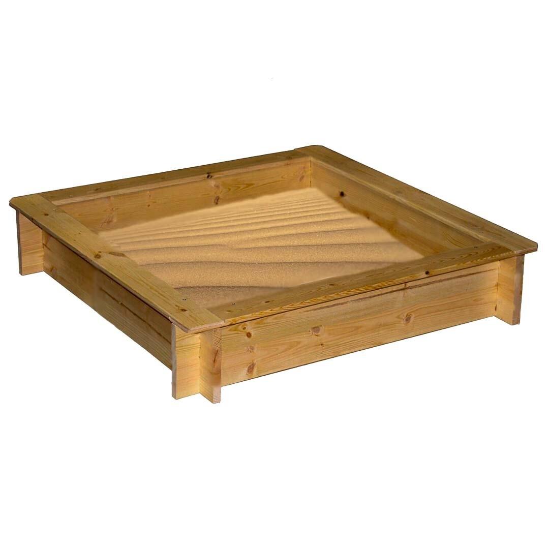 Детская деревянная песочница, 1.5 х 1.5 метра