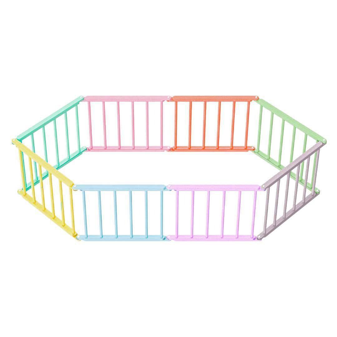 Игровой манеж-трансформер, 8 секций, разноцветный