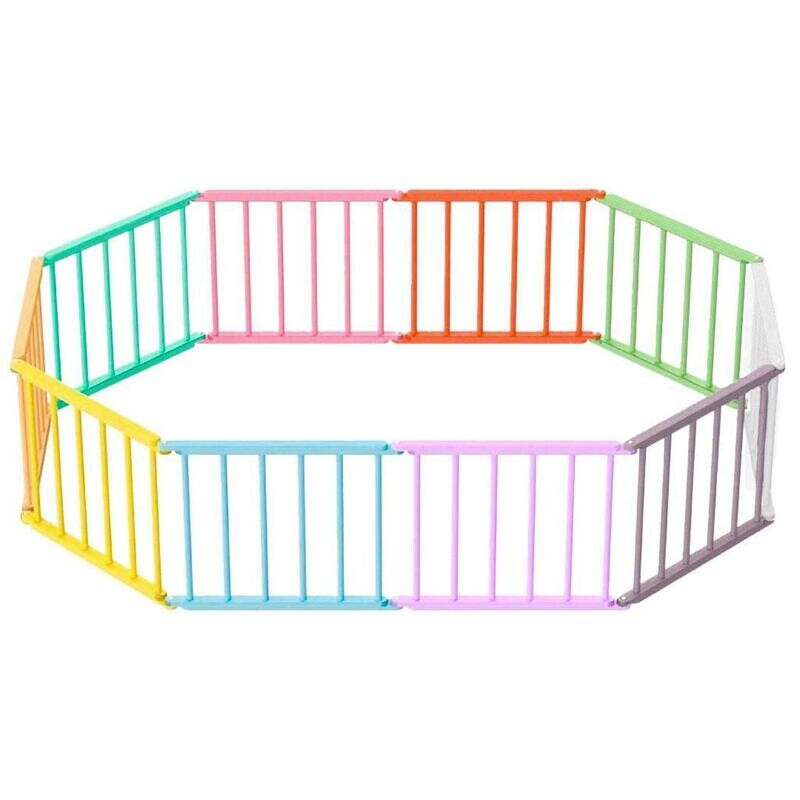Игровой манеж-трансформер, 10 секций, разноцветный