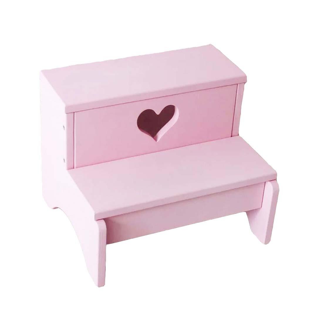 Ступенька, лесенка для детей, розовое сердце