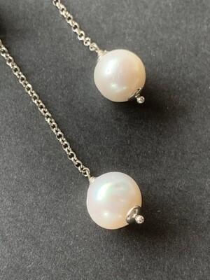 Orecchini con perle di fiume