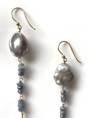 Orecchini in oro con perle
