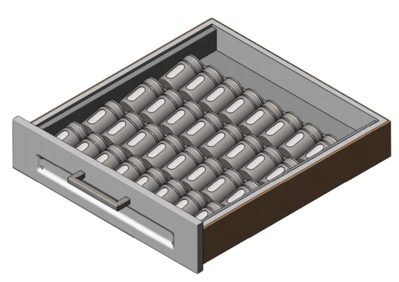Stainless Spice Drawer Insert