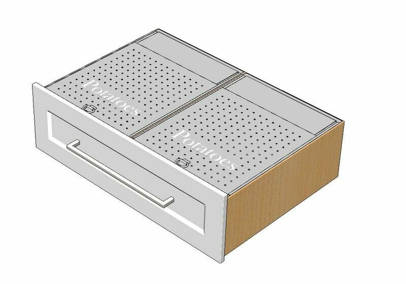 Dual Produce Drawer Inserts