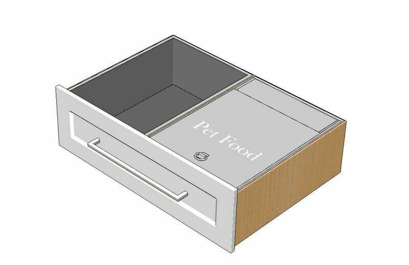 Combo Pet Storage Insert & Drawer Liner Insert