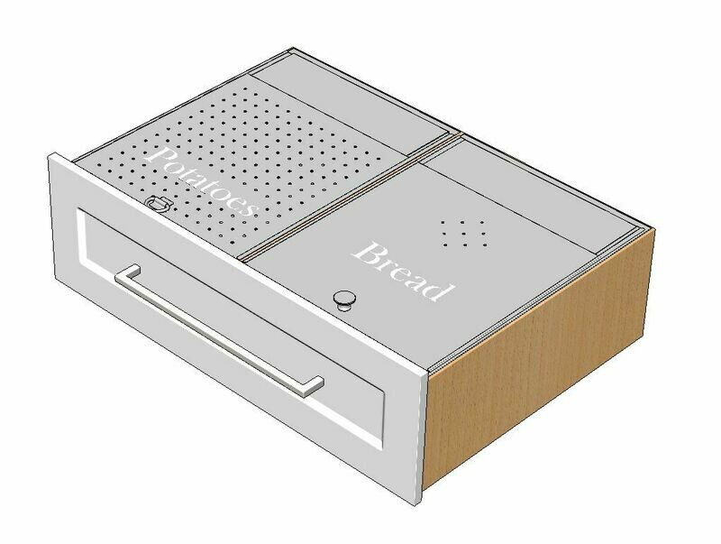 Dual Bread & Produce Drawer Inserts
