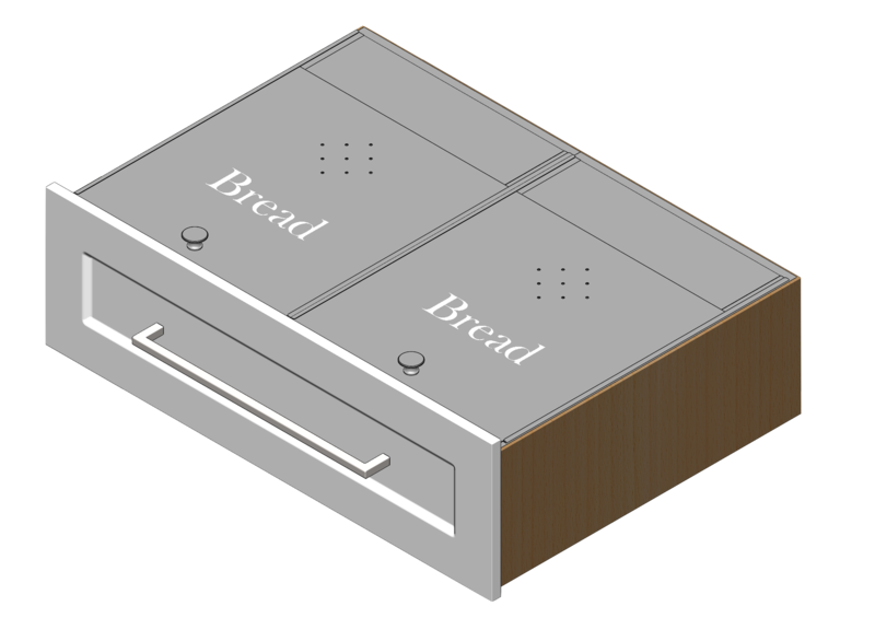 Dual Bread Drawer Inserts