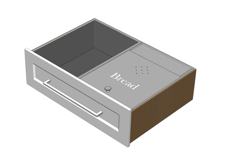 Combination Stainless Drawer Liner & Bread Inserts