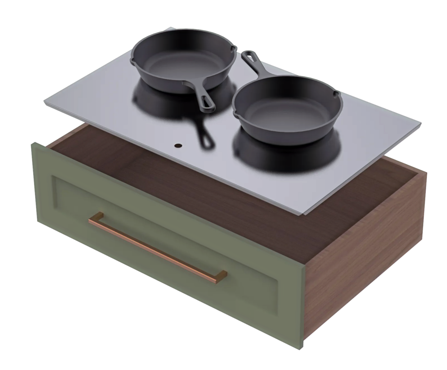 Cookware Drawer Panel