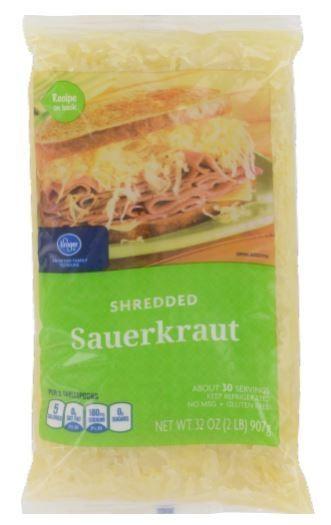 Frozen Sauerkraut, Kroger® Shredded Sauerkraut (32 oz Bag)
