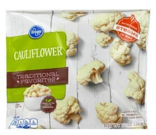 Frozen Cauliflower, Kroger® Cauliflower (12 oz Bag)