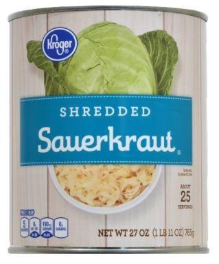 Canned Sauerkraut, Kroger® Shredded Sauerkraut (27 oz Can)