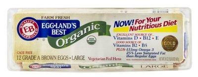Dairy Eggs, Eggland's Best® Organic Grade A Large Brown Eggs (1 Dozen-12 Eggs)