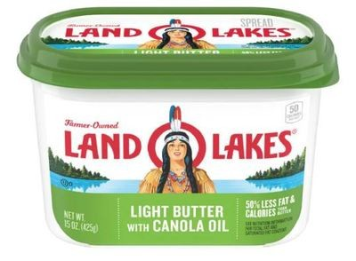 Butter, Land O Lakes® Light Butter Spread with Canola Oil (15 oz Tub)