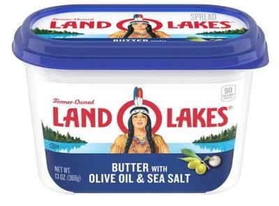 Butter, Land O Lakes® Butter Spread with Olive Oil and Sea Salt (15 oz Tub)