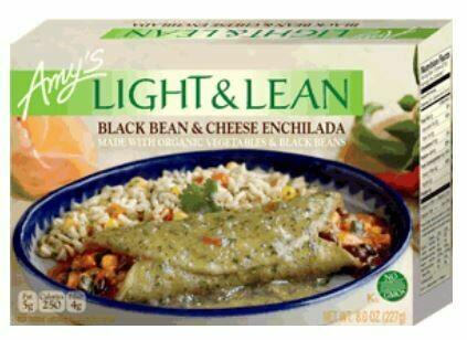Frozen Enchilada, Amy's® Organic, Light & Lean, Enchilada, Black Bean & Cheese (8 oz Box)