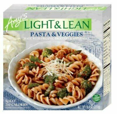 Frozen Pasta, Amy's® Organic, Light & Lean, Pasta & Veggies (8 oz Box)