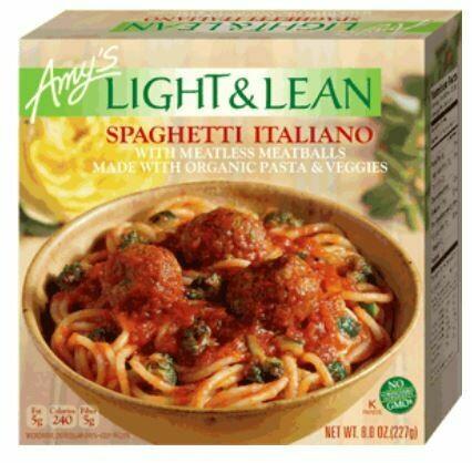 Frozen Pasta, Amy's® Organic, Light & Lean, Bowl, Spaghetti Italiano (8 oz Box)