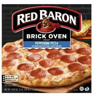 Frozen Pizza, Red Baron® Brick Oven Pepperoni Pizza (17.89 oz Box)