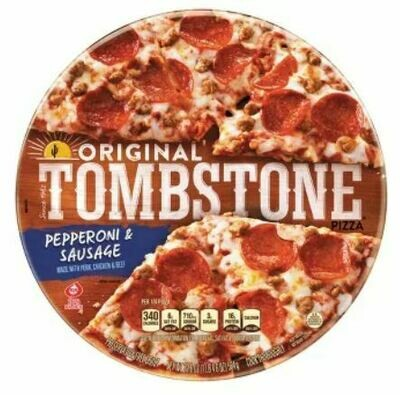 Frozen Pizza, Tombstone® Pepperoni & Sausage Pizza (19.6 oz Bag)