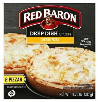 Frozen Pizza, Red Baron® Deep Dish Cheese Pizzas (11.2 oz Box, 2 Pizzas)